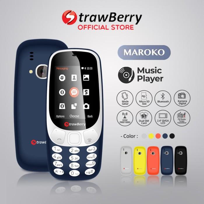 harga Strawberry – maroko 3310 | handphone candybar hp murah kamera senter - blue Tokopedia.com