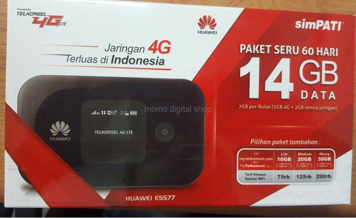 harga Modem huawei e5577 unlock wifi mifi paket telkomsel 14gb 2bln Tokopedia.com