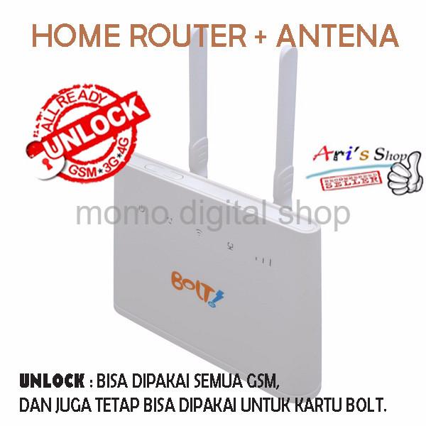 HOME ROUTER HUAWEI B310 BOLT UNLOCK GSM 3G 4G TANPA PERDANA ANTENA