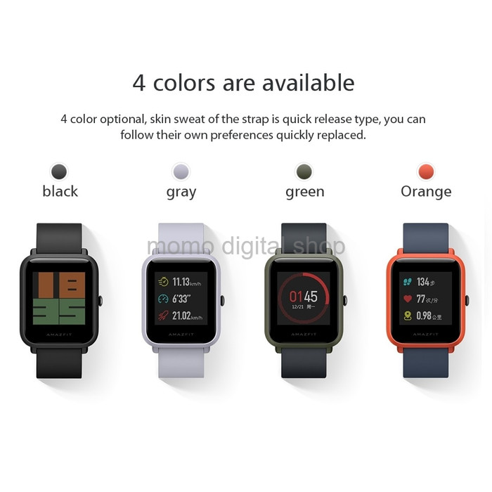 harga Xiaomi huami amazfit bip international english version smartwatch hi Tokopedia.com