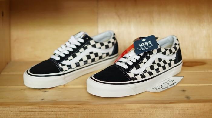Vans 100% Ori Old Skool 36 DX (Anaheim Factory) Black   Checkerboard 04bbdec09