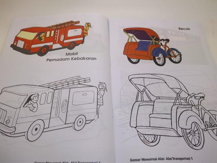 Jual Buku Anak Cerdas Mewarnai Gambar Alat Transportasi Paudtk