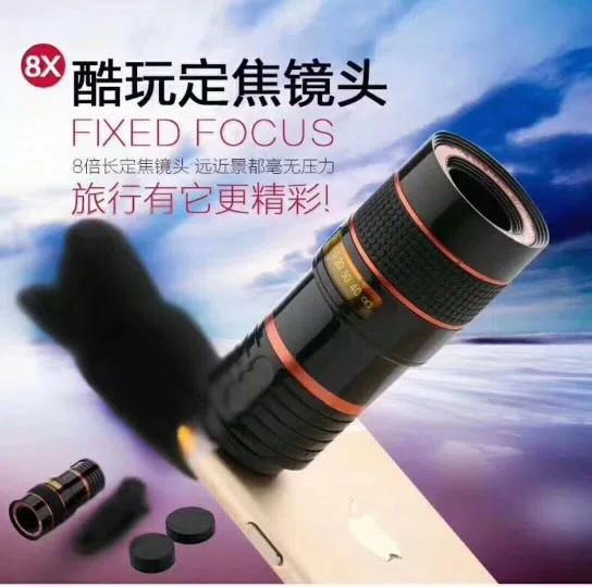 harga Telezoom jepit 8x lensa telescope tele zoom clip universal lens Tokopedia.com