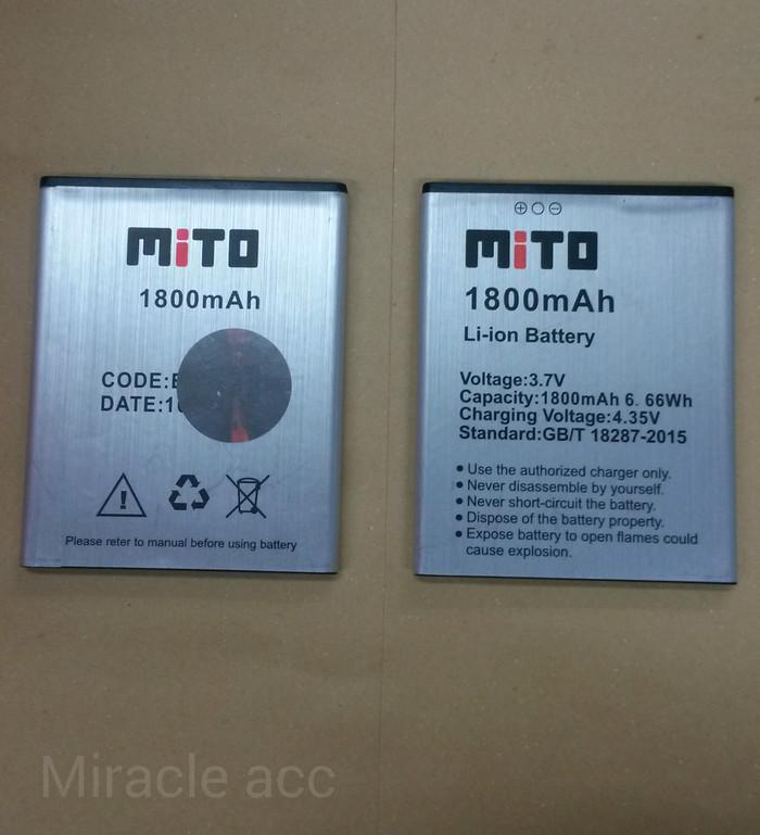 harga Baterai handphone original mito a880 / a990 / ba00132 / ba00132 Tokopedia.com