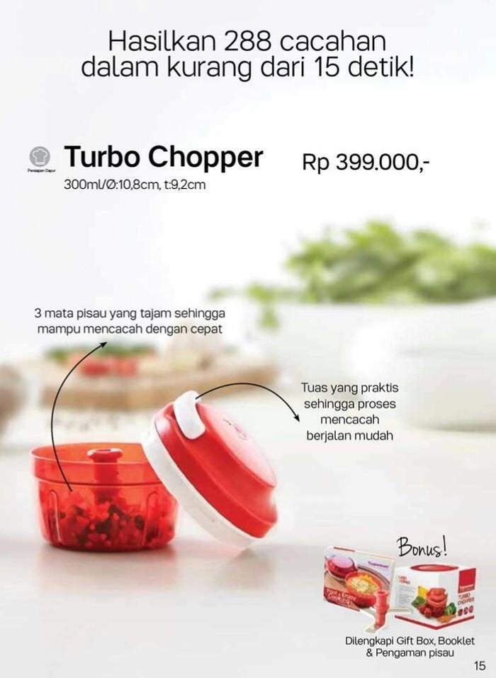 harga Turbo chopper red merah pencacah tupperware Tokopedia.com