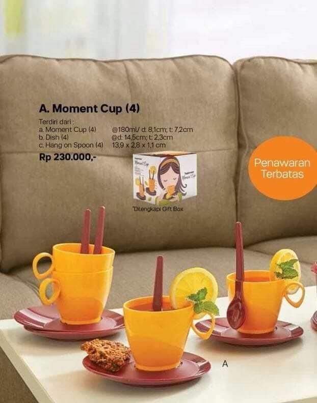 harga Moment cup set tupperware gelas Tokopedia.com