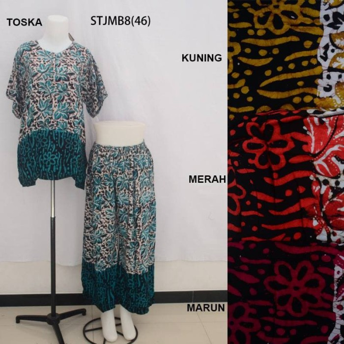 Setelan Kulot Jumbo Baby Doll Daster Baju Tidur Batik Pekalongan 8 51dd5c253e