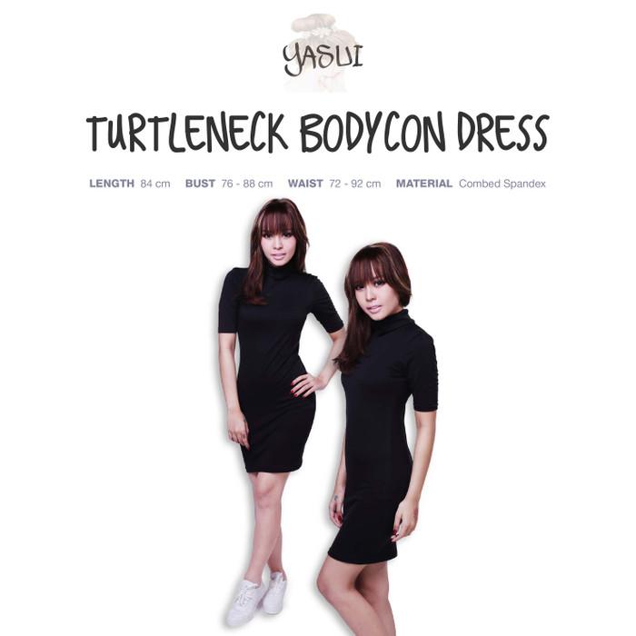 harga Turtleneck bodycon dress Tokopedia.com