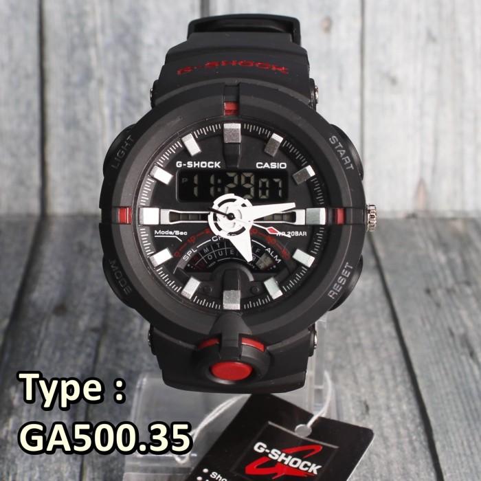 Model Terbaru !!! G - Shock Ga - 500 Hitam Jam Tangan Pria Outdoor Skmei