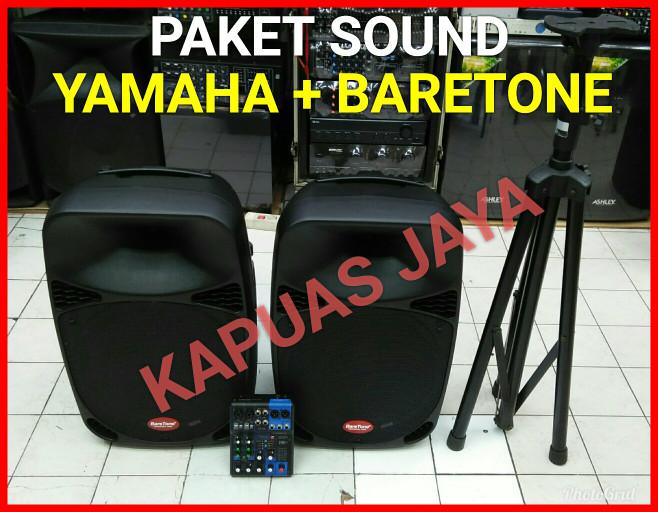 harga Paket sound system baretone + mixer yamaha original free stand speaker Tokopedia.com