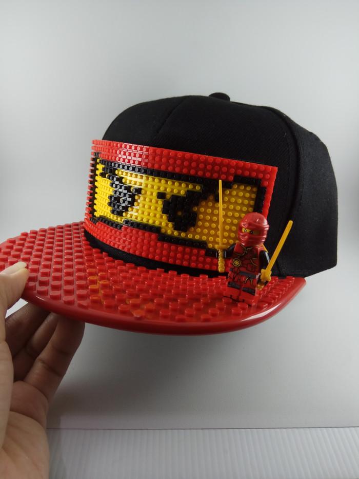 Topi lego bisa bongkar pasang dan bisa request warna sesuai selera b6ec92a703