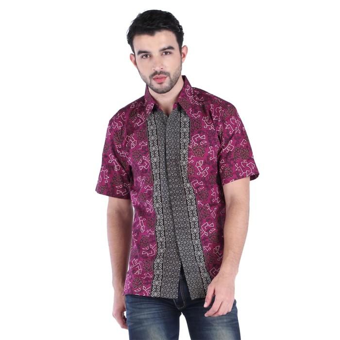 harga Rianty batik hem kemeja pria mahesa - purple - ungu m Tokopedia.com