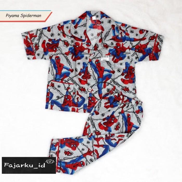 PIYAMA ANAK KATUN SPIDERMAN PIYAMA ANAK KATUN MURAH BAJU TIDUR MURAH - size  8 67212f55da