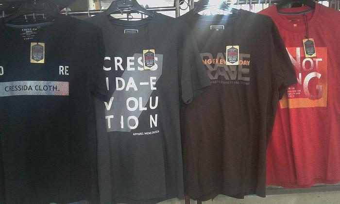 Baju Kaos Pria Jumbo size Merk Cressida asli tebal bagus berkualitas - Navy, XL