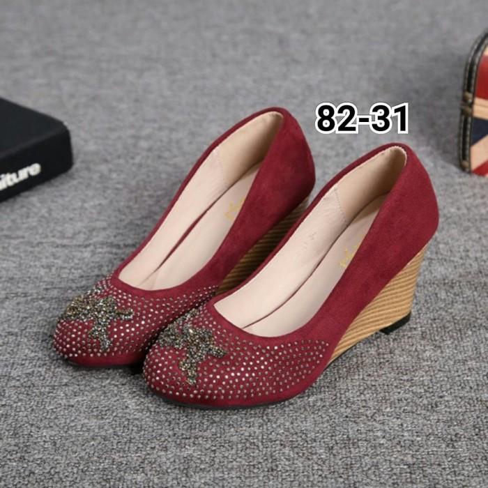 Sepatu wanita YVES SAINT LAURENT Wedges Shoes Series   82-31   - Black 84110ae30e