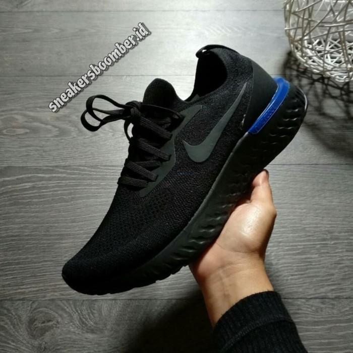 premium selection 69318 314ee Jual Nike Lunar Epic React Flyknit Black Blue - DKI Jakarta -  sneakersboomber.id | Tokopedia