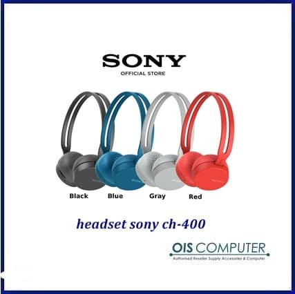SONY Wireless Bluetooth WH-CH400 Headphone On-Ear Headset WH CH400 - Tokopedia