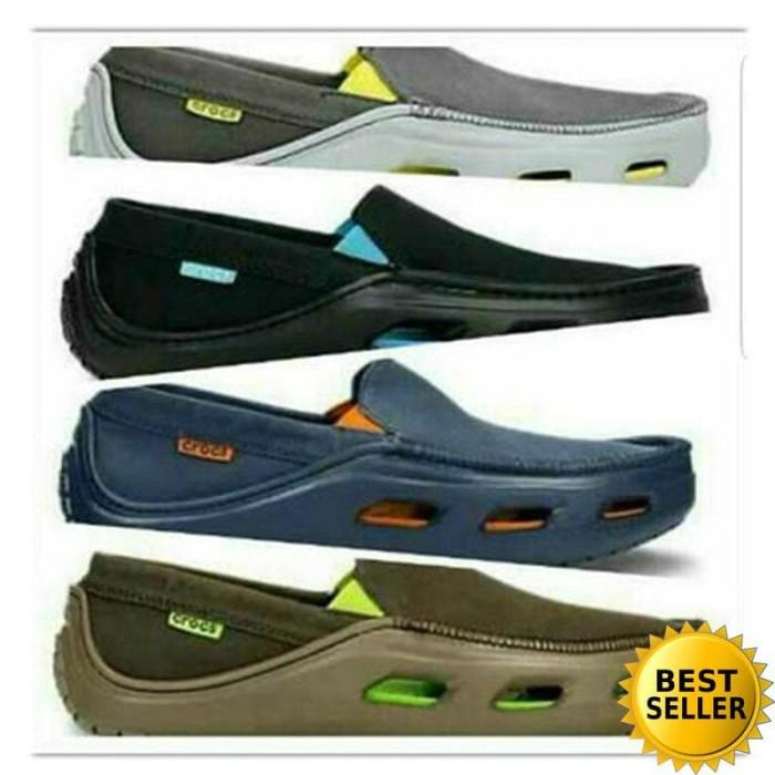 [TERLARIS] Sepatu Crocs Tideline Sport Canvas Shoe