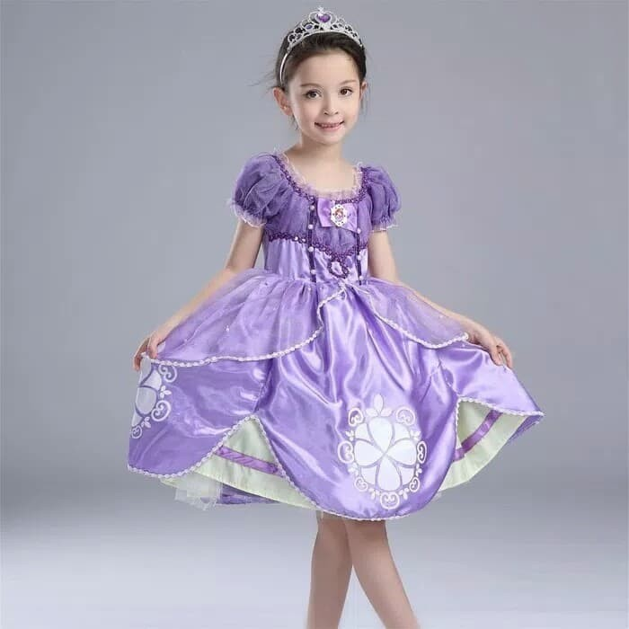 Gaun Princess Sofia Ungu Baju Princess Dress Princess Sofia Baju Pesta