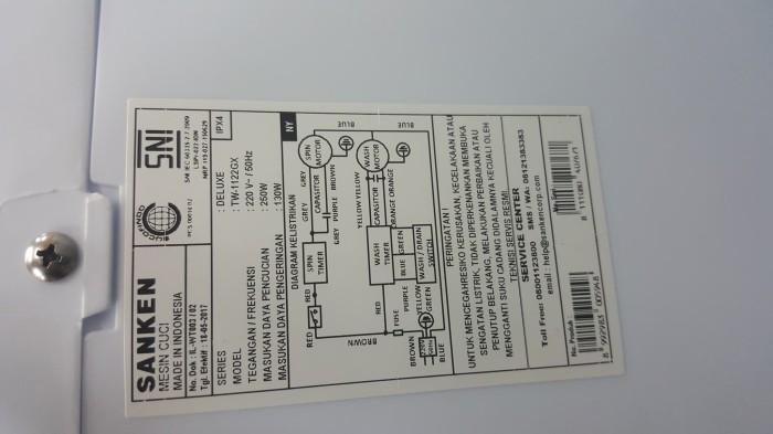 Jual mesin cuci Sanken 1122gx. 11KG. garansi resmi. 2 tabung - DKI on