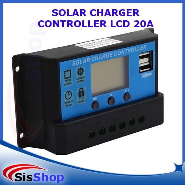 harga Solar charge controller 20a 12v 24v/panel surya charger lcd 20a 12v24v Tokopedia.com