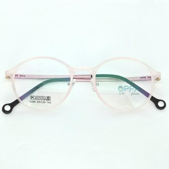 Jual Frame Kacamata Korea Pria Wanita Oppa Op34 Pk Pink Bulat Minus ... 1513534ffd