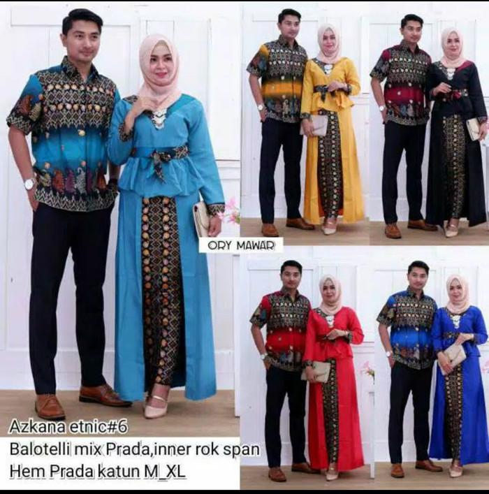 harga Couple baju pesta azkana etnic keong / sarimbit gamis batik askana 6 Tokopedia.com