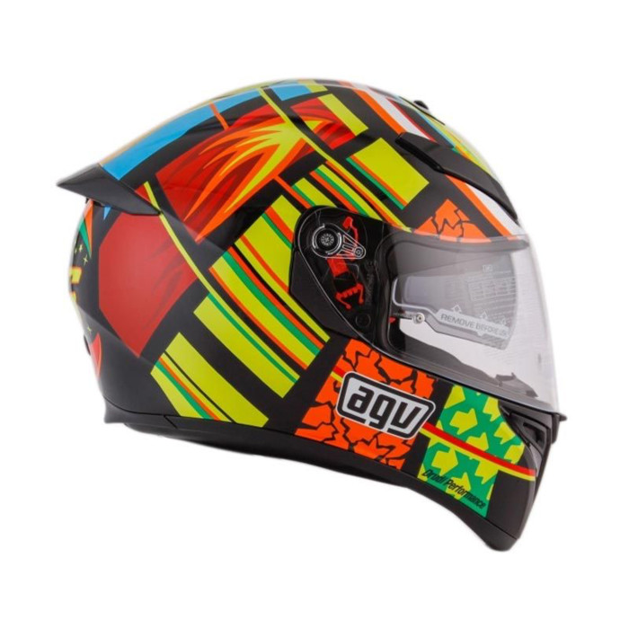 Helm AGV K3 SV Element Visor Elements Full Visor Red Yellow K3SV 3
