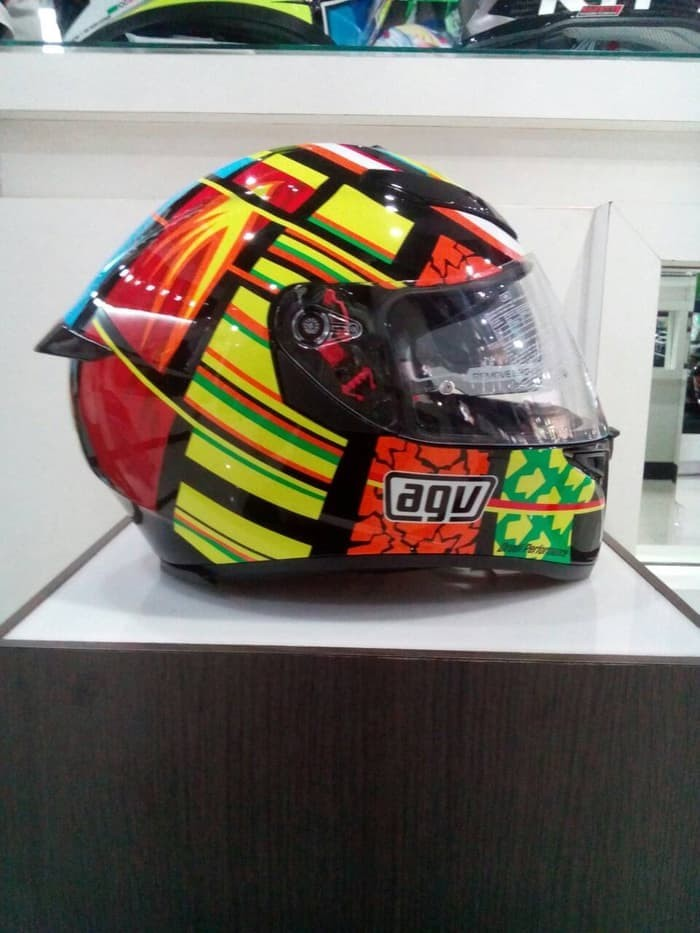 Helm AGV K3 SV Element Visor Elements Full Visor Red Yellow K3SV 1