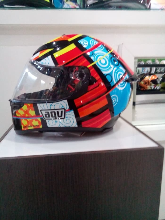 Helm AGV K3 SV Element Visor Elements Full Visor Red Yellow K3SV 2