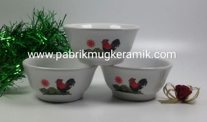 Foto Produk Mangkok Ayam Jago Mini, Souvenir Pernikahan dari Keramiko Pabrik Mug