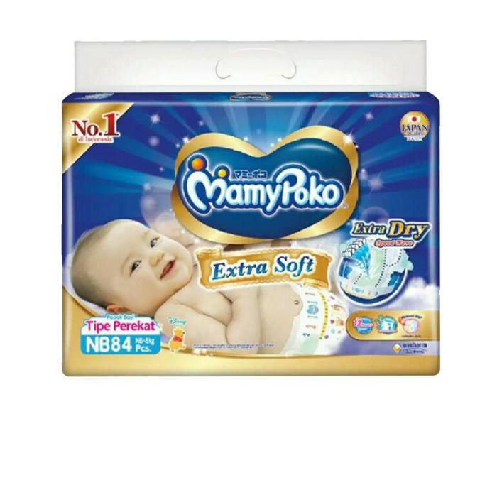 Popok perekat mamypoko extradry nb84 isi 84 pcs untuk bayi baru lahir