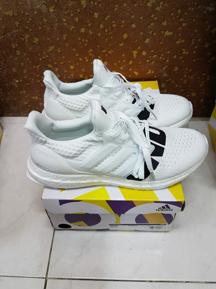 f57fe3a91bd8d Jual Adidas ultra boost Ultraboost X undefeated white perfect kicks ...