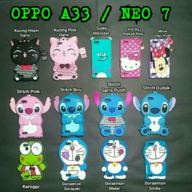 Case Boneka 3D Oppo A33/ Oppo neo 7