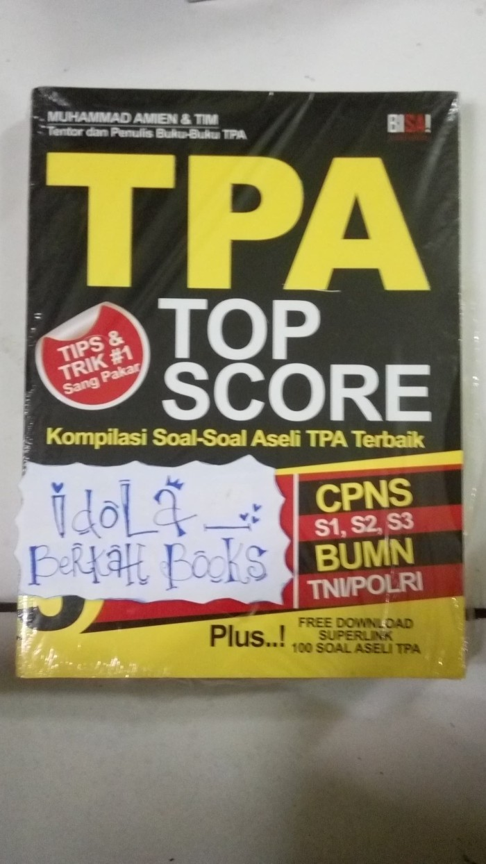 Jual TPA TOP SCORE Kota Yogyakarta IDOLA BERKAH BOOKS
