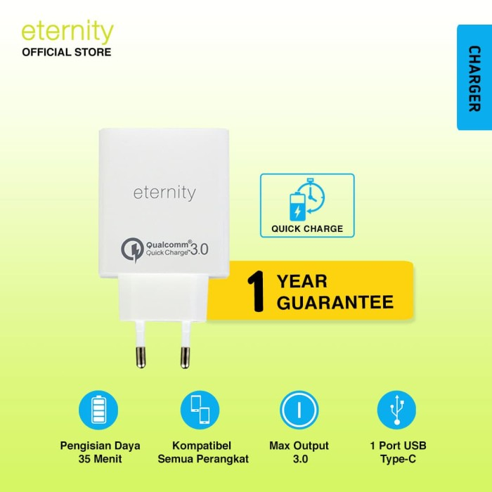 eternity – ultra port charger | powerbank murah promo 2 usb - white