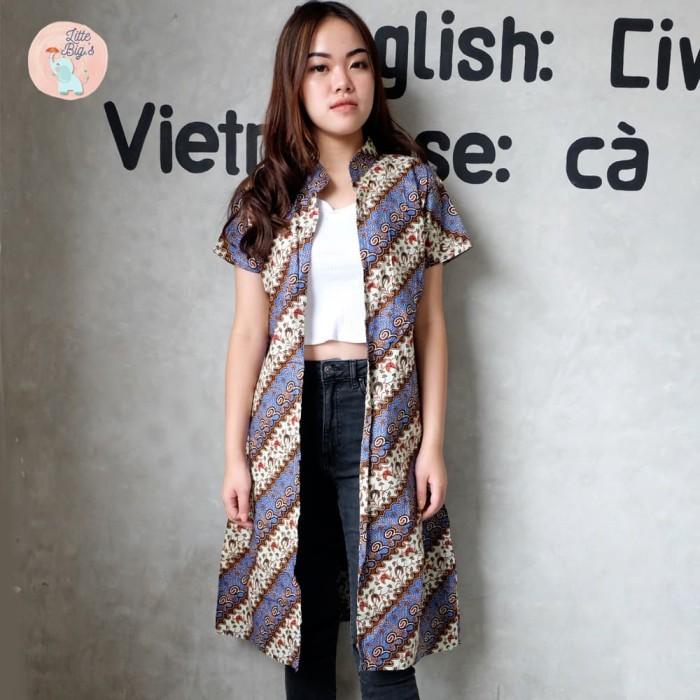 Jual Cardigan Batik Modern Baju Batik Modern Atasan Batik Wanita Outer Kab Tangerang Little And Bigs Tokopedia