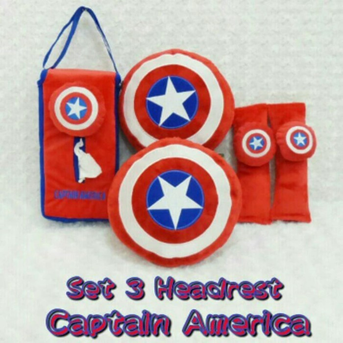 Jual Bantal Mobil 3 In 1 Captain America Grab It Fast Jakarta Pusat Indieshopp Tokopedia