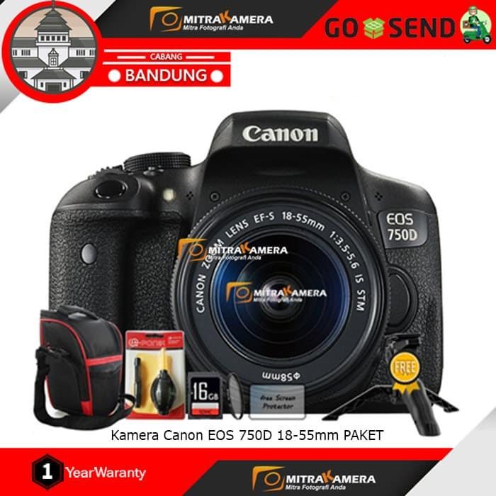 harga Canon eos 750d kit 18-55mm is stm (paket) Tokopedia.com