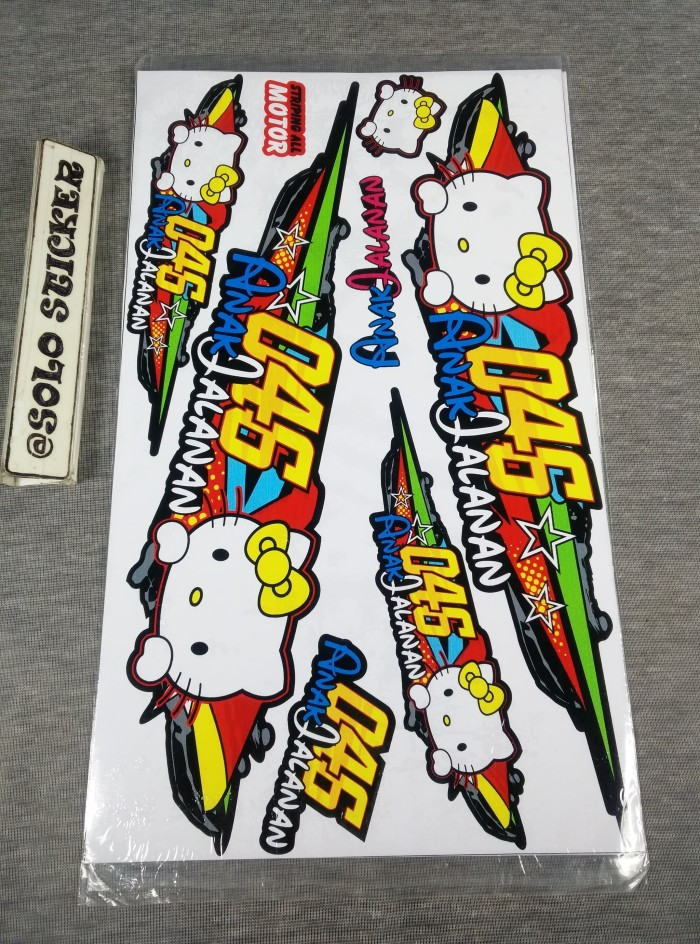 harga Striping sticker lis motor variasi all matic hello kitty #2 Tokopedia.com