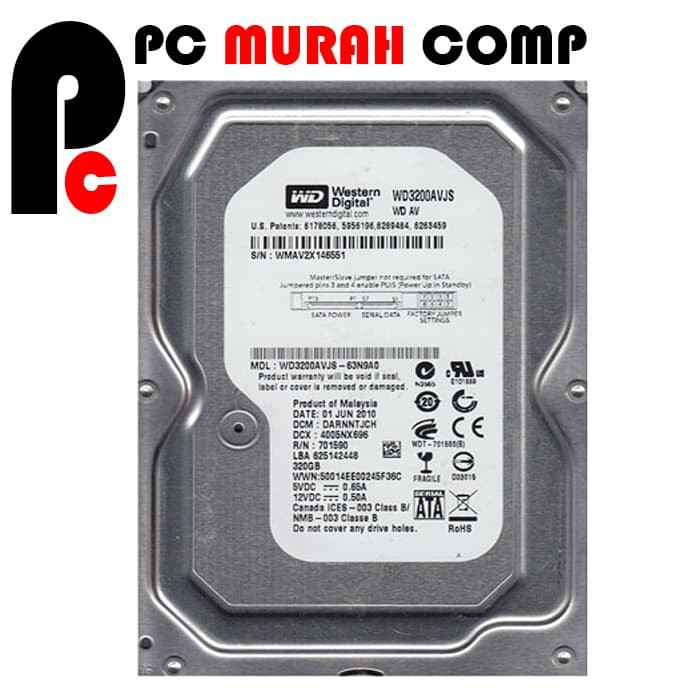 """Foto Produk HDD Internal PC 3.5"""" 320GB SATA WD dari Pc Murah Comp"""