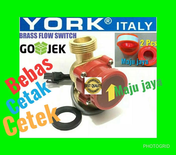 harga Otomatis pompa air booster   york   water flow switch 1 x 3/4 Tokopedia.com