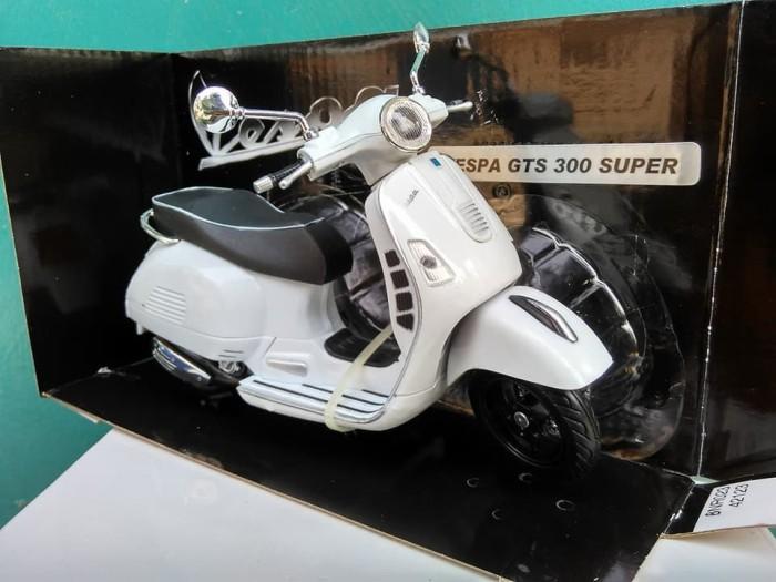Jual Miniatur Vespa Gts 300 Super Diecast Motor Klasik Antik Harga