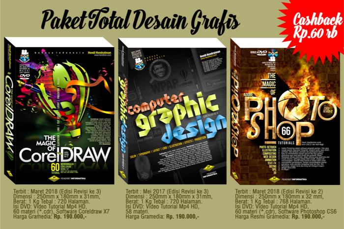Jual Paket Buku 3 in 1 Total Grafis Coreldraw Photoshop Teori Desain - Kota  Bandung - Tutorial Multimedia | Tokopedia