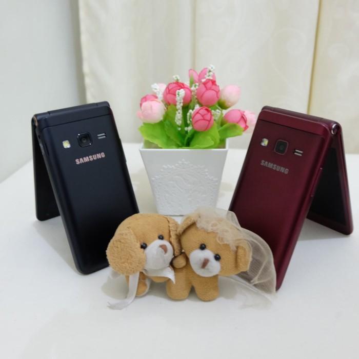 harga Samsung galaxy folder 2 / hp flip android ( burgundi ) Tokopedia.com