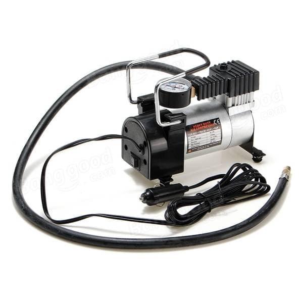 Pompa Ban Mini Tekanan 100PSI, Heavy Duty Air Compressor 12V DC E004