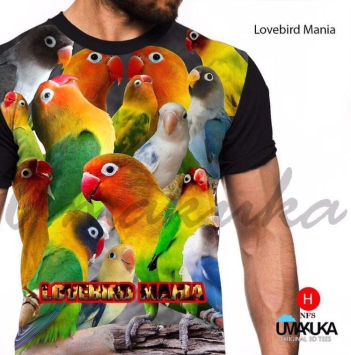 Jual Love Bird Mania Kaos Burung Kicau 3d Fullprint Kota Bandung N0name Tokopedia