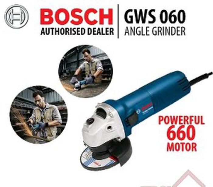 Promo Mesin Gerinda Tangan Bosch GWS 060 4 Inch Alat Pe Murah