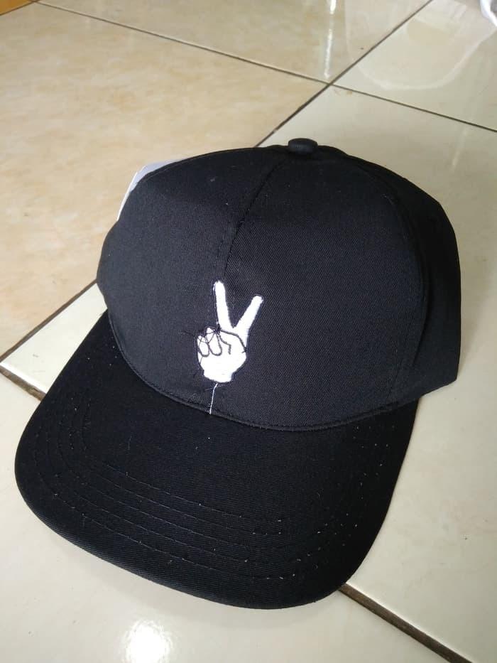 Jual TOPI BASEBALL BORDIR PEACE   TOPI TUMBLR CAP MURAH PROMO ... 0001bde215