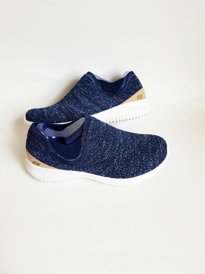 Fashion Sneaker: Skechers Ultra Flex Petak women Navy Size 36-40 - Abu -abu Tua, 36
